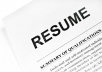 write, edit your Resume, Cv and Cover letter