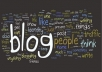 write 2 comment per day on your blog for the 7 days and leave comment linked to your blog on other people's blog