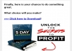 send you an ebook on how to unlock the secret to profit