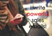 write powerful and effective emails for your sales and email marketing campaign
