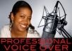 record a professional 50 word voiceover in 24 hours