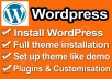 install Wordpress plugins and themes for you