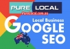 create high PR Google SEO backlink and full business page on PureLocal with unlimited products , audio , video , etc