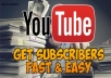 Add 200 Youtube Subscribers Promotion Package