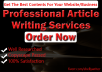 Write a 500 word original article for your blog