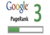 to increase my  google Pagerank from 2 to 3 for