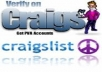 20 phone verified craigslist accounts with gmail email, password, and phone number associated with each account..