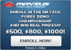 1 international signups (winner) for Forex Demo Championship