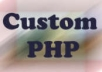 create custom php
