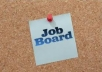 a job listing website board