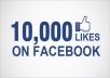 100,000 face book fan page likes