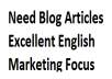 a quality blog writer, no scrapping, copyscape checked