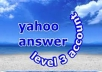 Yahoo answer account level 3