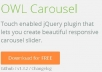 Owl Carousel Installed on a website