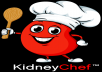 "A custom illustrated logo for the brand ""Kidney Kitchen"""