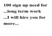 100 sign up to a website
