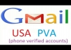 Gmail PVA American Names that don't look like spam Gmail email accounts, looks like a real person owns it