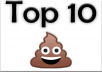 "I need 10 ""emoji style"" cartoon images for a 1-10 ranking chart"
