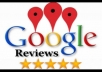 100 Google Maps reviews