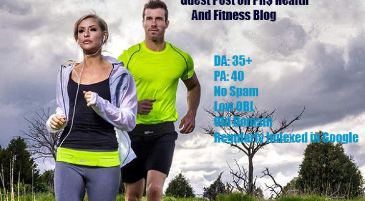 I will publish 2 Guest posts on Health and Fitness blogs DA 40