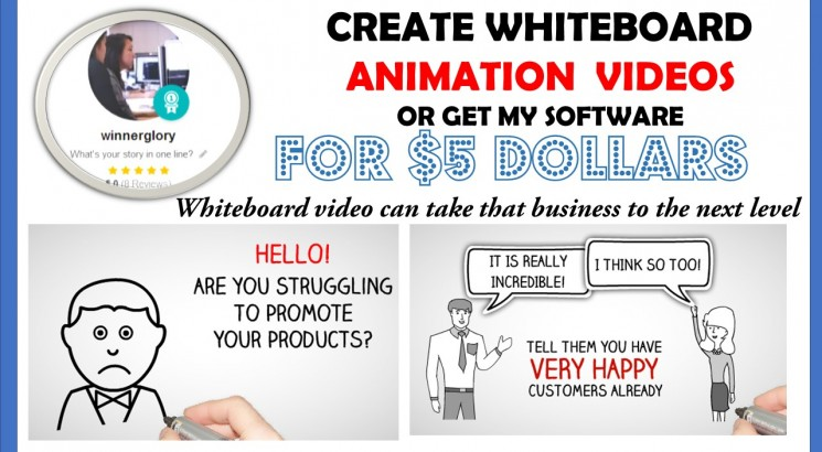 I will Make Whiteboard Animation Video Or Give my Whiteboard Software