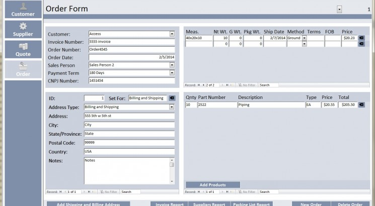 I will create a Microsoft Access database, form, query, report ect